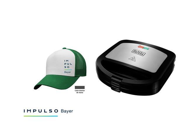 Gorra Impulso Bayer blanco con verde + Sandwichera B+D