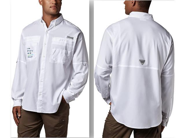 Camisa Columbia Blanca Impulso Bayer