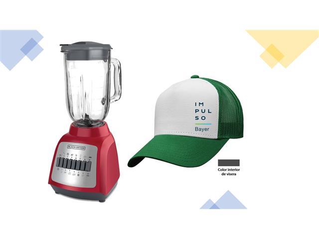 Gorra Impulso Bayer Verde/Blanco + Licuadora Durapro - Black+Decker