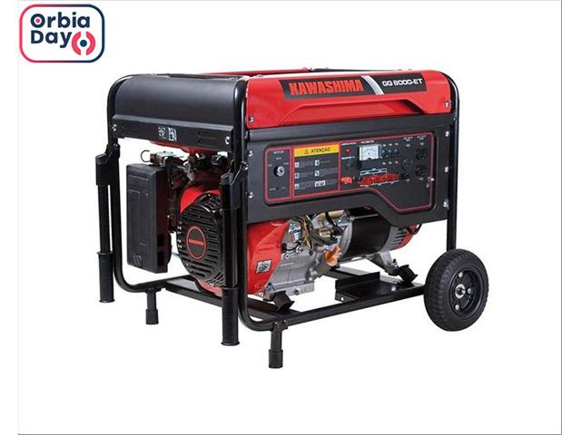Gerador Kawashima GG8000-ET220 a gasolina 8,0KW TRIFASE