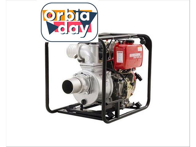 Motobomba Kawashima DW400AE 4motor diesel 418cc 10hp