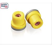 Combo Bico Pulverizador Jacto Leque AVI OC 8002 Amarelo 20 unidades
