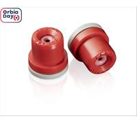 Combo Bico Pulverizador Jacto Leque AVI OC 8004 Vermelho 20 Unidades