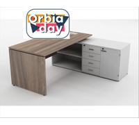 Mesa Gerencial Painel 170X160  Madeirada Direita - 0