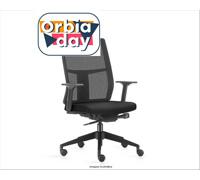Cadeira Time Presidente Assento Preto Rodízio Piso Duro - 0