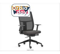 Cadeira Time Presidente Assento Cinza Rodízio Carpete