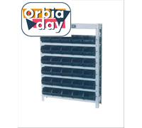 Estante Marcon Porta-Componentes Parafusada com 30 Caixas Nº 3 Preta