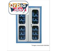 Armário Marcon Porta-Componentes com 30 Caixas Nº 3 e Portas de Vidro