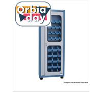 Armário Marcon Porta-Componentes com 50 Caixas Porta de Vidro