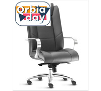 Cadeira New Onix Presidente Preta Cromada e Rodízio para Carpete - 0