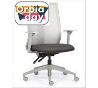 Cadeira Addit Alta Cinza e Assento Cinza Rodízio Piso Duro - 0