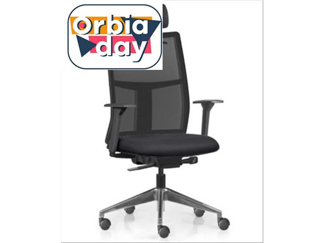 Cadeira Time Presidente Assento Preto Base Alumínio Rodízio Piso Duro