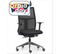 Cadeira Time Presidente Assento Preto Base Alumínio Rodízio Piso Duro - 0