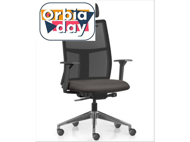 Cadeira Time Presidente Assento Cinza Base Alumínio Rodízio Piso Duro