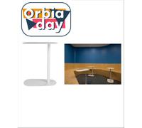 Mesa Fixa em Aço Branco Fosco para Uso de Notebook