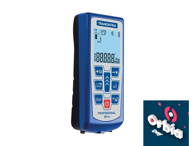 Medidor de Distância à Laser Tramontina Alcance 80 Metros