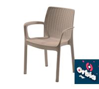 Cadeira Keter Bali Rattan I para Área Externa Cappuccino