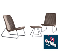 Conjunto Keter de Área Externa Rio Patio Set Mesa e 2 Cadeiras - 0