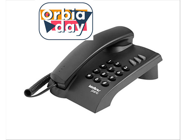Telefone Intelbras Mesa e Parede com Fio Preto