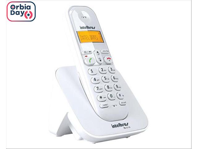 Telefone Intelbras sem Fio TS3110 ID Branco