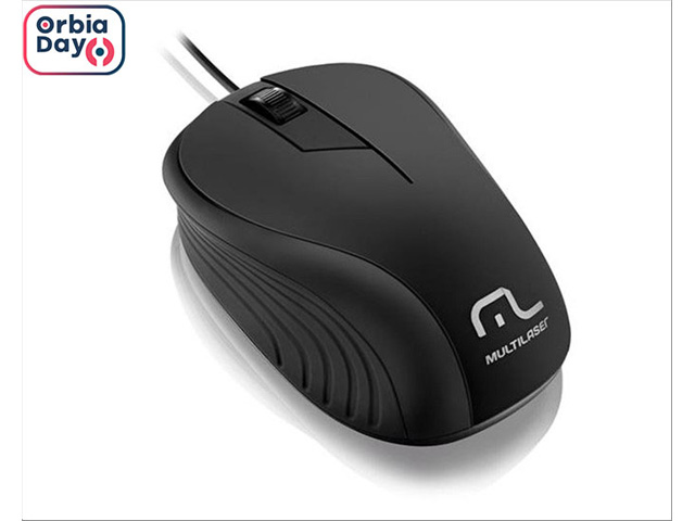 Mouse Multilaser USB Emborrachado 1200DPI Preto