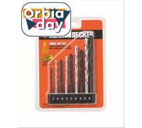 Jogo de Brocas para Metal Concreto Black & Decker 9 Peças