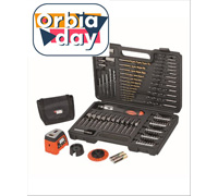 Jogo de Perfuração e Parafusamento c/ Laser Black & Decker 115 Peças