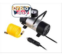 Compressor de Ar Automotivo Multilaser 100PSI com 3 Bicos Preto 12V