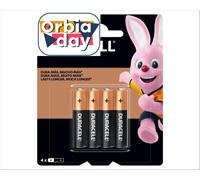 Pilha Alcalina AAA Palito Duracell com 4 Unidades - 0