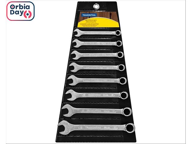Jogo de Chaves Combinadas Tramontina Basic Corpo Aço Cromado  8 Peças
