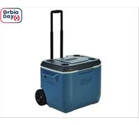 Caixa Térmica com Rodas Coleman Dusk Azul 47 Litros