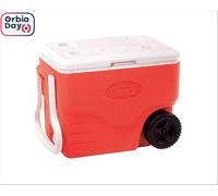 Caixa Térmica com Rodas Coleman Vermelha 38 Litros