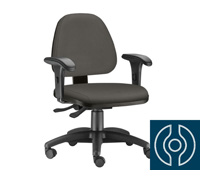 Cadeira Sky Operacional Cinza Rodízio Carpete