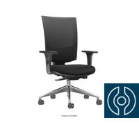 Cadeira Grand Preta Rodízios Piso Duro