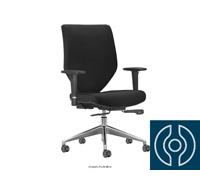 Cadeira Andy Presidente Preta Rodízio Carpete