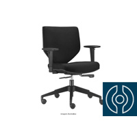 Cadeira Andy Diretor Preta Rodízio Piso Duro