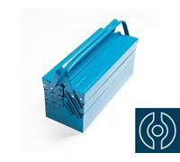 Caixa Sanfonada para Ferramenta Tramontina com 5 gavetas e Alças Fixas