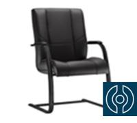 Cadeira New Onix Fixa Preta e Estrutura Pintada em Preto