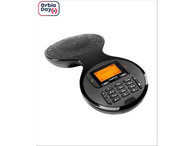 Caixinha Audio Conferência sem Fio Digital Intelbras TS 9160 Preto