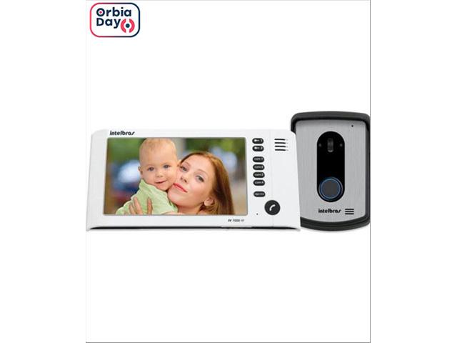"""Vídeo Porteiro Intelbras IV 7010 HF Viva Voz com Display de 7"""" Branco"""